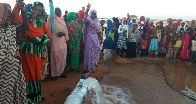 Sudan'da İhlas Vakfı ile gelen su sevinci