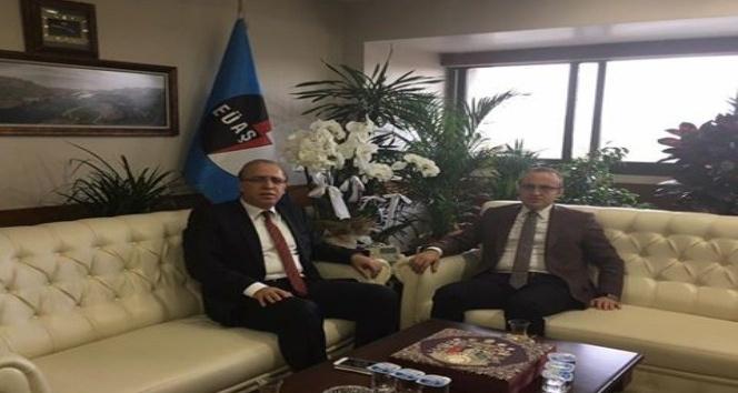 Turan'dan EÜAŞ Genel Müdürü Şatıroğlu'na ziyaret