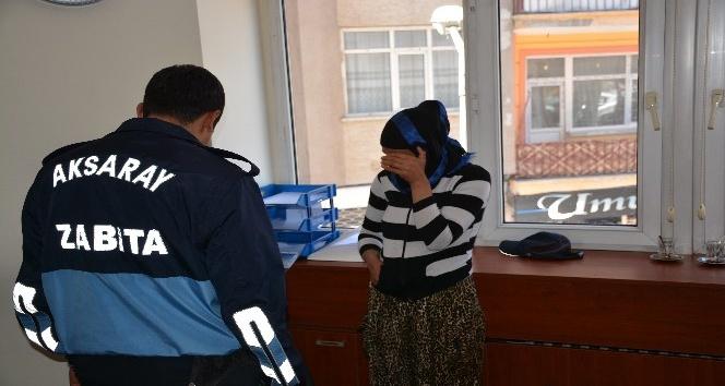 Aksaray'da zabıtadan dilenci operasyonu