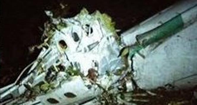 İşte uçak kazasının olay yeri görüntüleri