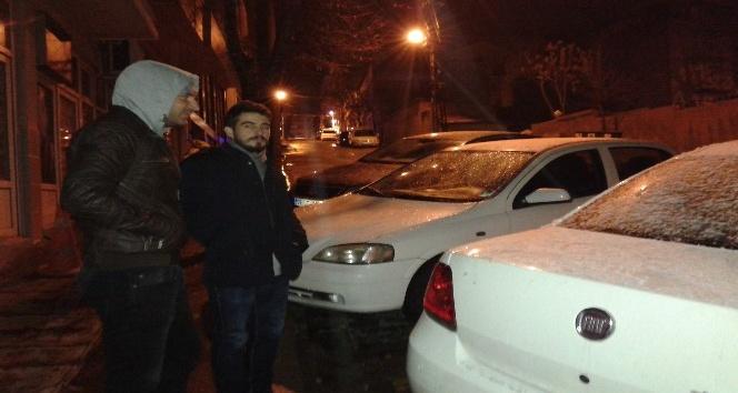 Tekirdağda kar yağışı başladı