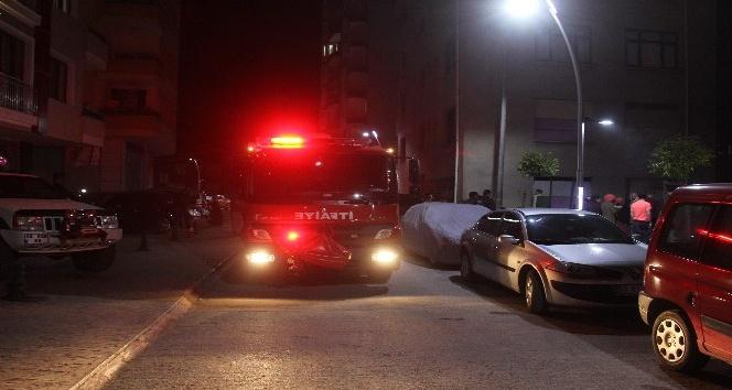 Rize'de boş evde yangın çıktı