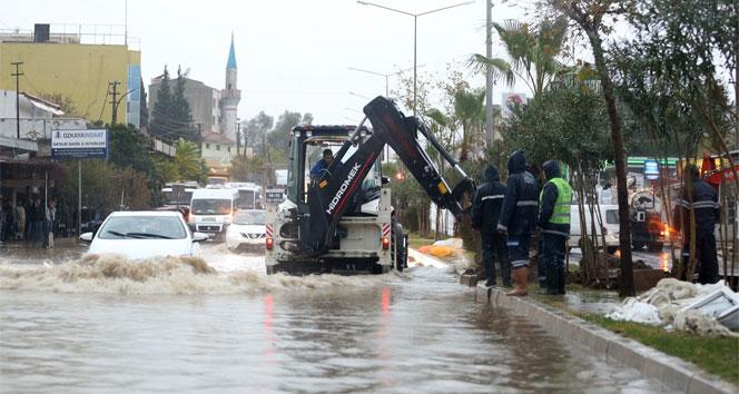 Milastaki su taşkınlarına anında müdahale