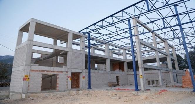 MESKİ, Bozyazı'da teknik birimler binası yapıyor