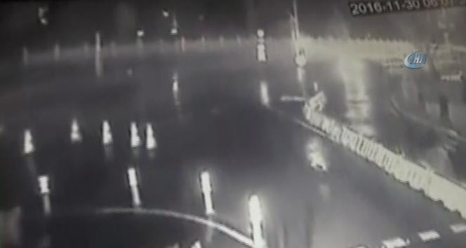 Erdal Tosunun hayatını kaybettiği kaza kamerada