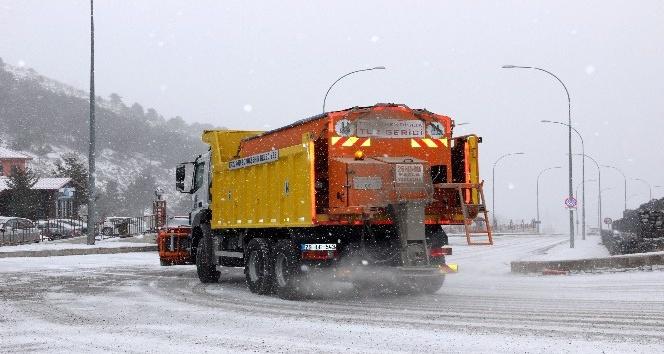 Erzurum'da kar yağışı başladı