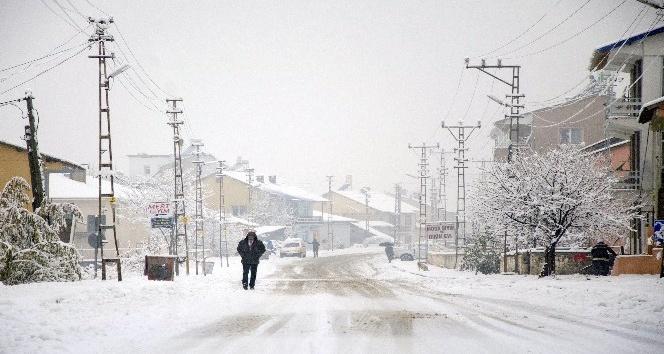 Ovacık'ta yoğun kar yağışı