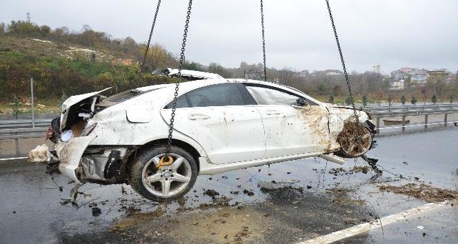 Otomobil uçuruma yuvarlandı: 1 yaralı
