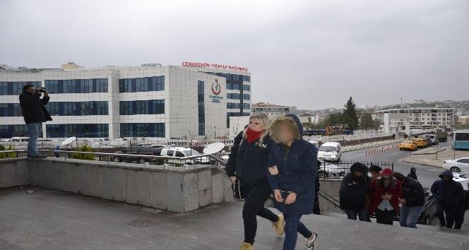 Tekirdağ'da 10 PKK şüphelisi adliyeye sevk edildi