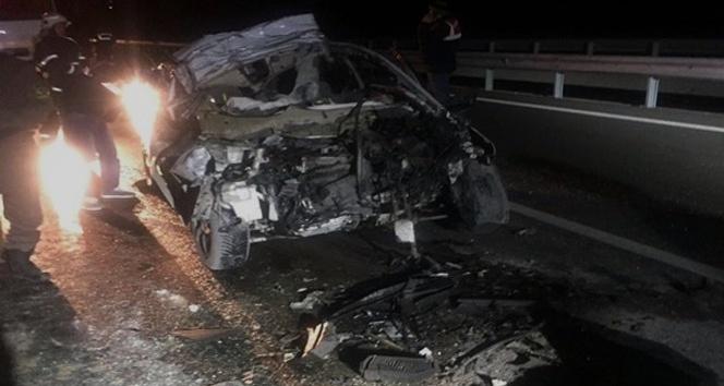 Kütahya'da trafik kazası, 1 ölü