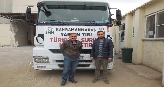 Kahramanmaraş'tan Suriye'ye insani yardım sürüyor