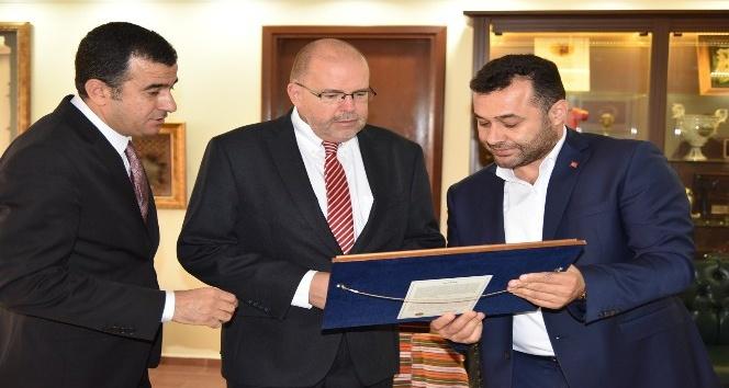 Letonya Büyükelçisi'nden Başkan Yücel'e ziyaret