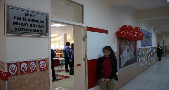 Şehit Murat Boyraz'ın ismi bu kütüphanede yaşayacak