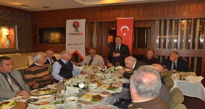 Başkan Ataç efsane futbolcularla bir araya geldi