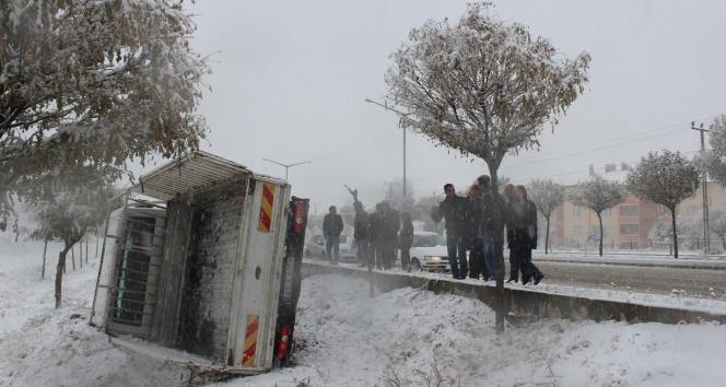 Muşta kar yağışı