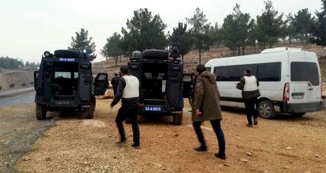 Şanlıurfada polise saldırı