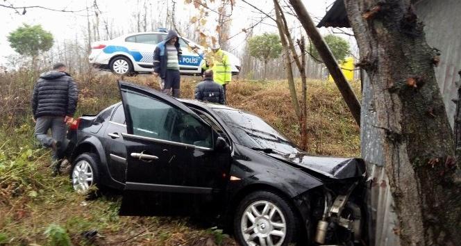 Samsun'da otomobil şarampole yuvarlandı: 1 ölü, 3 yaralı