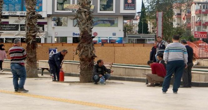 Antalya'da işsiz vatandaşın benzinli intihar girişimi