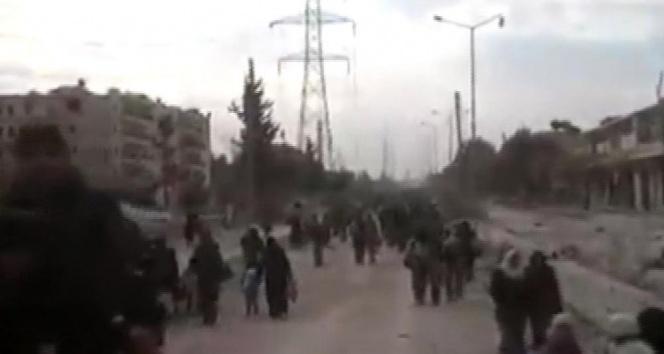 Halepten büyük kaçış