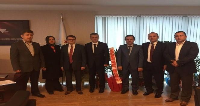 Kamu Hastaneleri Genel Sekreteri Erdem'e 'hayırlı olsun' ziyaretleri