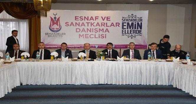 Şehzadeler Esnaf Danışma Meclisi toplandı