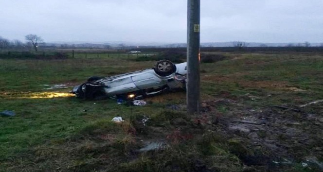 Otomobil takla attı: 1 ölü, 2 kişi yaralı