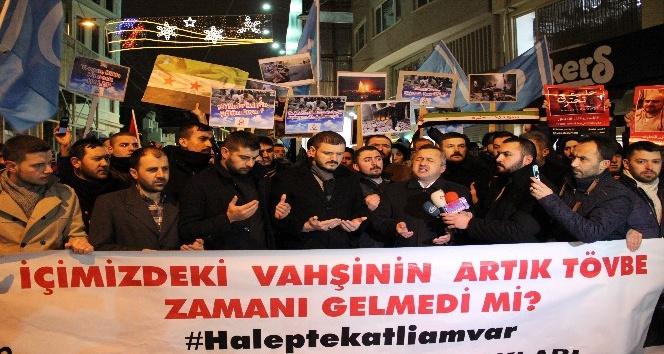 Alperen Ocakları'ndan Taksim'de protesto