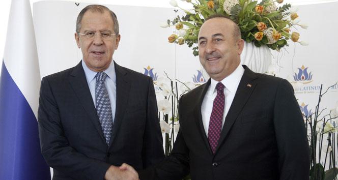 Çavuşoğlu Lavrovla bir araya geldi