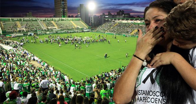 Yüz binler Chapecoense için bir araya geldi