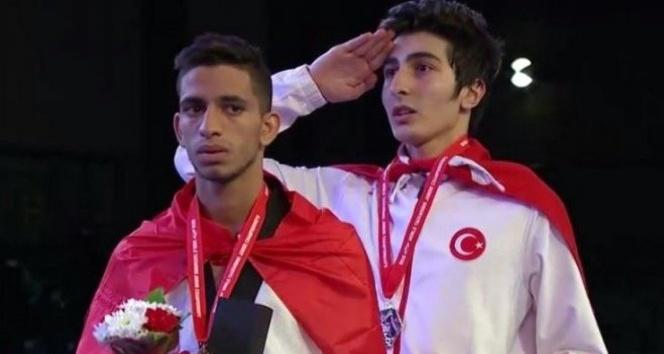 Dünya Şampiyonu tekvandocu Reçber'den Başkan Yaşar'a ziyaret