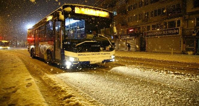 Denizli Büyükşehir otobüsleri kışa hazır