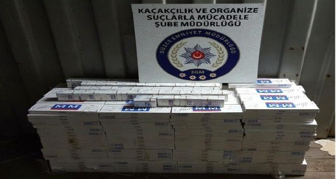 Düzce Polisinden kaçak sigara operasyonu