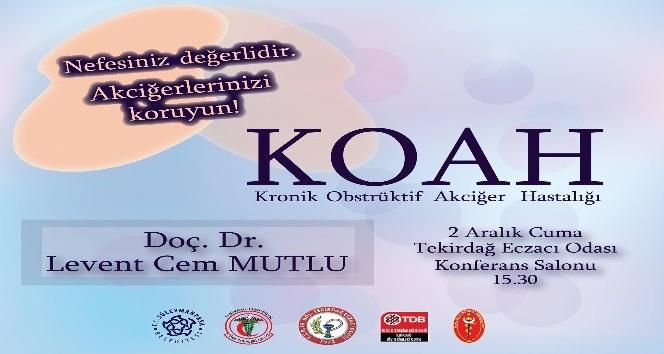 Süleymanpaşa'da KOAH bilgilendirme toplantıları
