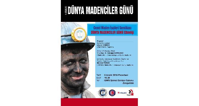 GMİS, Dünya madenciler günü nedeniyle etkinlik düzenleyecek