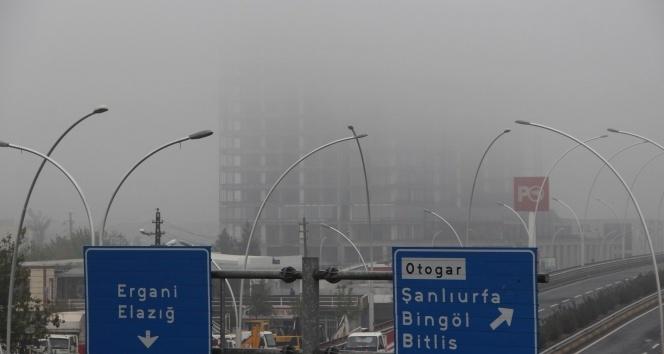 Diyarbakırı sis kapladı