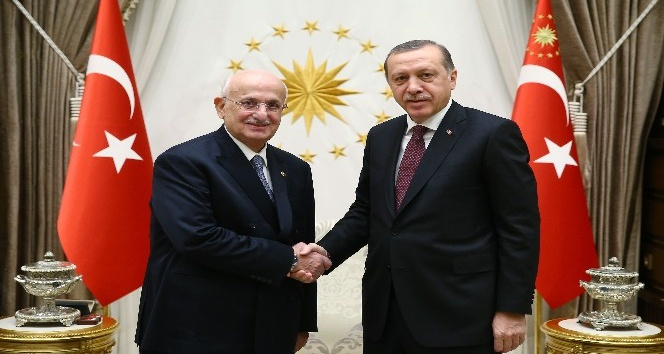 Cumhurbaşkanı Erdoğan, Meclis Başkanı Kahraman'ı kabul etti