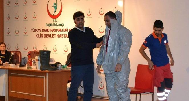 Kilis'te sağlık personeline KBRN eğitimi verildi