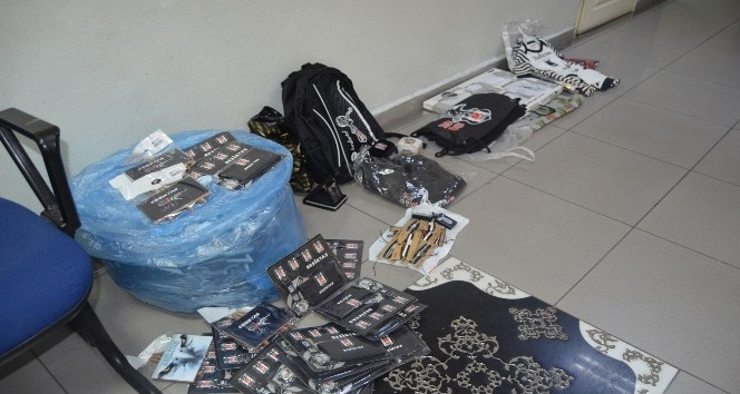 Beşiktaş logolu korsan ürün satan 11 esnafa yargı yolu