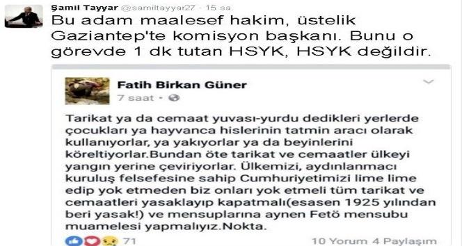 Şamil Tayyar'dan Adalat Komisyonu Başkanı Hakan Birkan Güner'e tepki