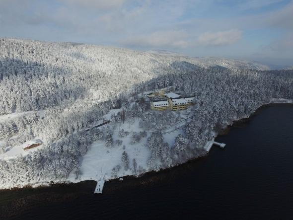 Abant Gölü'nün havadan görüntüsü büyüledi