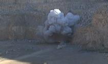 Adanada ele geçirilen bombalı araç böyle imha edildi