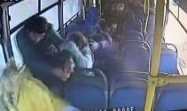 Otobüs yan yattı yolcular böyle savruldu!