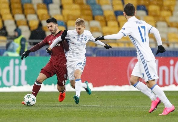 Dinamo Kiev Beşiktaş maçından özel kareler...