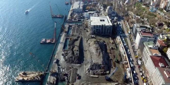 Galataport Projesi havadan görüntülendi
