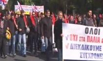 Yunanistanda hükümet protestosu
