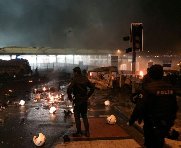 İstanbul'da patlama! Olay yerinden dehşet görüntüler...