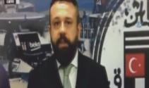 Beşiktaş Tvde patlama anında büyük panik kamerada