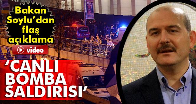 Bakan Soylu: Saldırıyı canlı bomba yaptı...