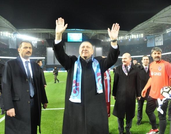 Erdoğan, Trabzon stadının yeni adını açıkladı