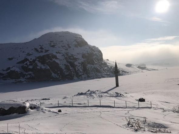 Ağrı'da muhteşem kar manzaraları